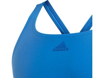 ADIDAS Kinder Athly V 3-Streifen Badeanzug Blau