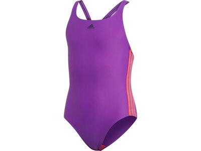 ADIDAS Kinder Athly V 3-Streifen Badeanzug Lila