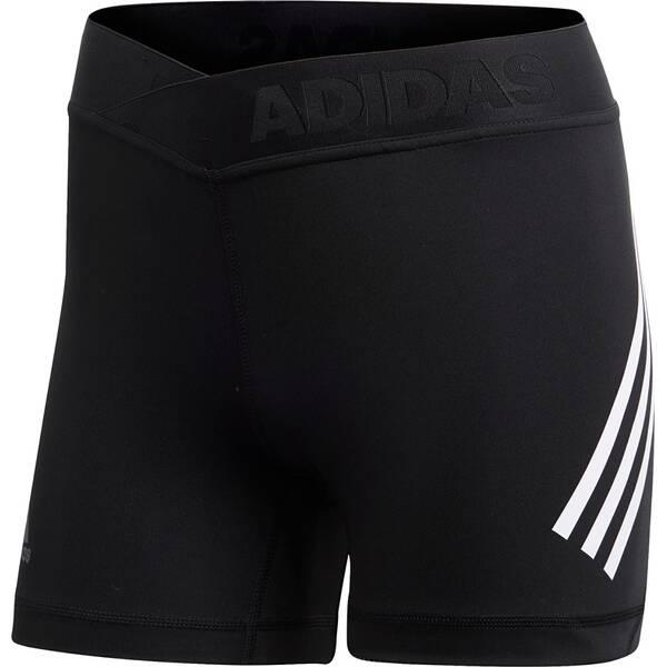 ADIDAS Damen Alphaskin Sport 3-Streifen kurze Tight
