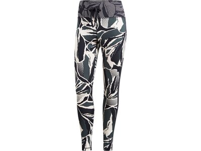 ADIDAS Damen Paper Floral High Rise 7/8-Tights Grau