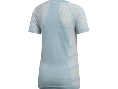 ADIDAS Damen Primeknit Cru T-Shirt Silber