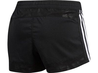 ADIDAS Damen 3-Streifen Embossed Shorts Schwarz