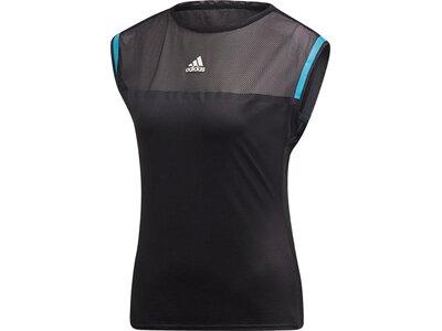 ADIDAS Damen T-Shirt Escouade Schwarz