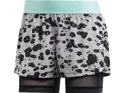 ADIDAS Damen Icon Two-in-One Shorts Grau