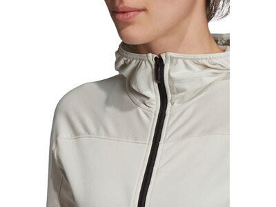 ADIDAS Damen Trace Rocker Hooded Fleecejacke Silber