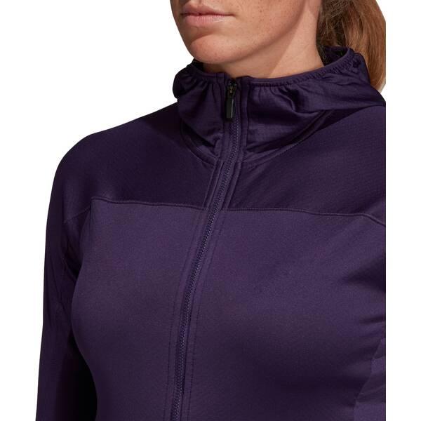ADIDAS  Trace Rocker Hooded Fleece Jacket