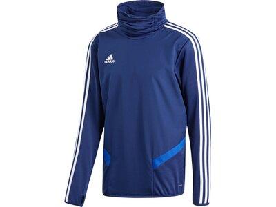 ADIDAS Fußball - Teamsport Textil - Sweatshirts Tiro 19 Warm Top Sweatshirt Dunkel Blau