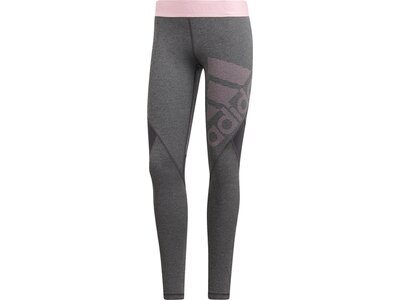 ADIDAS Damen Alphaskin Sport lange Tight Grau