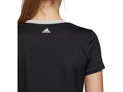 ADIDAS Damen T-Shirt Linear Crop Silber