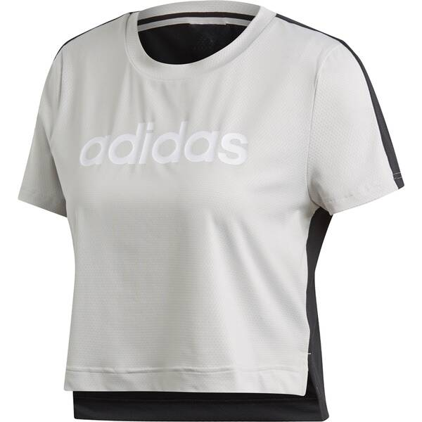 ADIDAS Damen T-Shirt Linear Crop