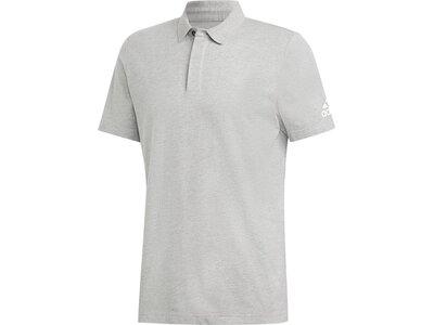 ADIDAS Herren Must Haves Plain Poloshirt Silber
