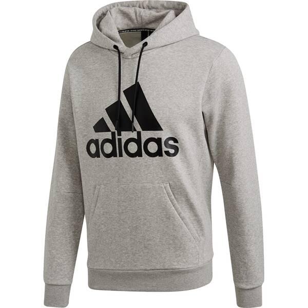 ADIDAS Herren Must Haves Badge of Sport Fleece Pullover | Sportbekleidung > Fleecepullover | Grau - Schwarz | Fleece | Adidas