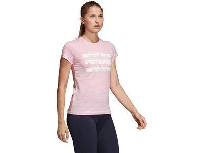 ADIDAS Damen T-Shirt Sport ID Rot