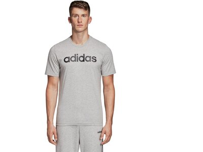 ADIDAS Herren T-Shirt Essentials Linear Logo Silber