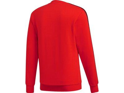 ADIDAS Herren Essentials 3-Streifen Sweatshirt Rot