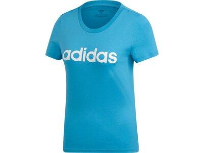 ADIDAS Damen T-Shirt Essentials Linear Blau
