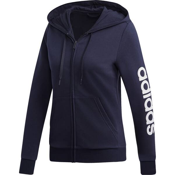 ADIDAS Damen Essentials Linear Kapuzenjacke