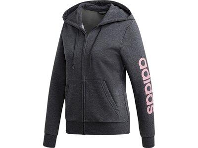 ADIDAS Damen Essentials Linear Kapuzenjacke Grau