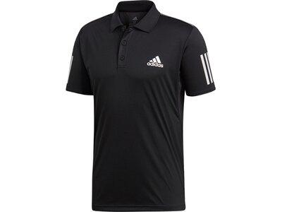 ADIDAS Herren 3-Streifen Club Poloshirt Schwarz