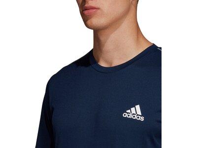 adidas Herren 3-Streifen Club T-Shirt Blau
