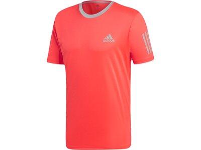 ADIDAS Herren T-Shirt 3-Streifen Club Rot