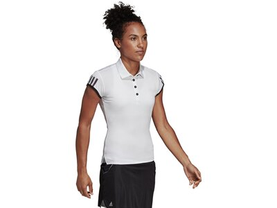 ADIDAS Damen Club 3-Streifen Poloshirt Weiß