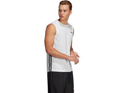 ADIDAS Herren T-Shirt Design 2 Move 3-Streifen Silber