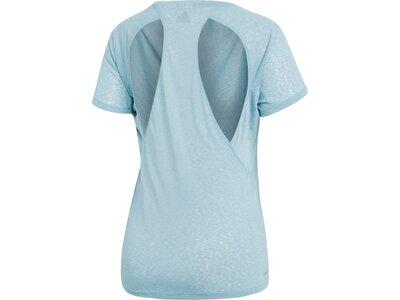 ADIDAS Damen T-Shirt Cutout Blau