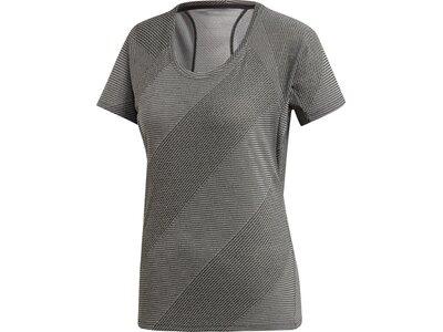 ADIDAS Damen T-Shirt Jacquard Grau