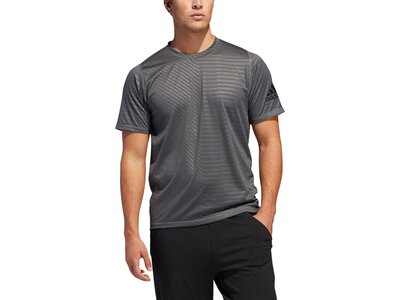ADIDAS Herren T-Shirt FreeLift Sport Ultimate Embossed Grau