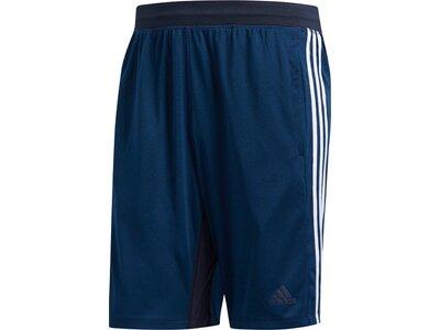 ADIDAS Herren 4KRFT Sport Heather 3-Streifen Shorts Blau