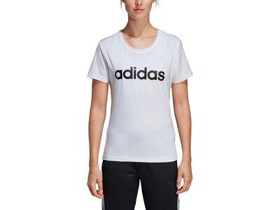 ADIDAS Damen T-Shirt Design 2 Move Logo Silber