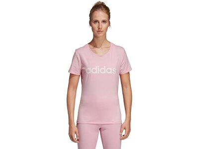 ADIDAS Damen T-Shirt Design 2 Move Logo Pink