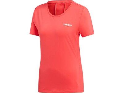 ADIDAS Damen T-Shirt Design 2 Move Solid Rot