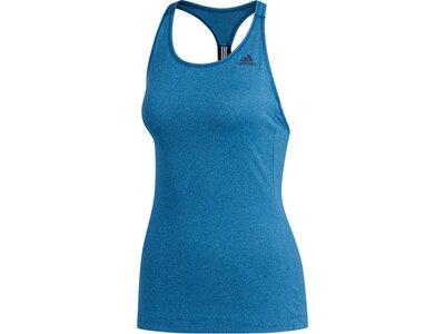 ADIDAS Damen Tanktop 3-Streifen Blau