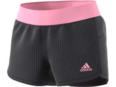 ADIDAS Damen Two-in-One Mesh Shorts Grau