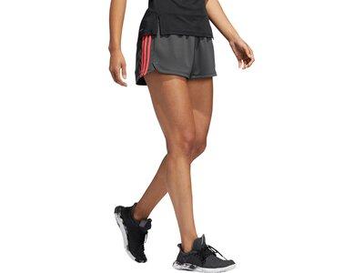 ADIDAS Damen Pacer 3-Streifen Knit Shorts Grau