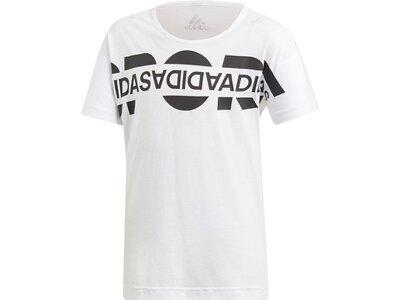 ADIDAS Kinder T-Shirt Boxy Graphic Weiß