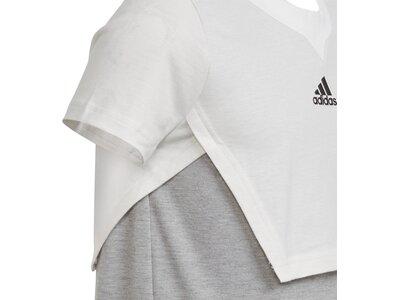 ADIDAS Damen ID 3-Streifen Kleid Grau