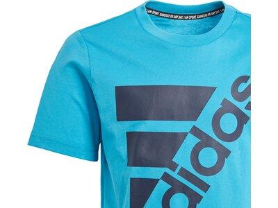 ADIDAS Kinder T-Shirt Must Haves Badge of Sport Blau