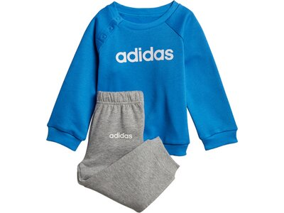 ADIDAS Kinder Sportanzug I LIN JOGG FL Blau