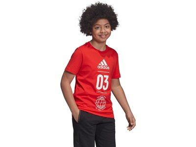 ADIDAS Kinder T-Shirt Sport ID Rot