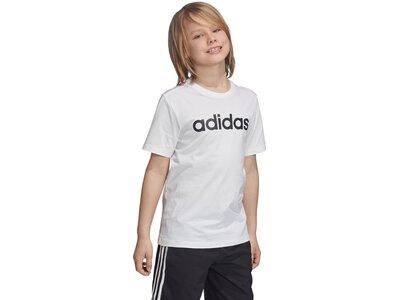 ADIDAS Kinder T-Shirt Essentials Linear Logo Grau