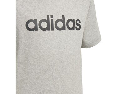 ADIDAS Kinder T-Shirt Essentials Linear Logo Silber