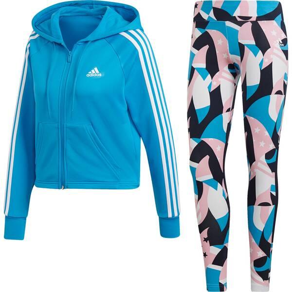 ADIDAS Damen Hoodie and Tights Trainingsanzug