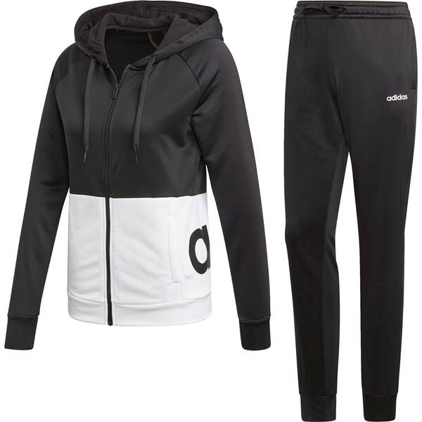 ADIDAS Damen Linear Hoodie French Terry Trainingsanzug