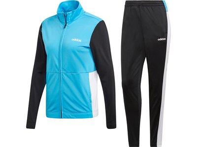 ADIDAS Damen Plain Tricot Trainingsanzug Blau