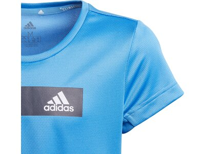 ADIDAS Kinder T-Shirt Training Cool Blau