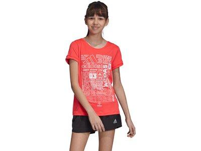 ADIDAS Kinder T-Shirt Iconic Rot
