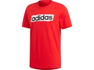 ADIDAS Herren T-Shirt Linear Brush Rot